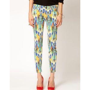 Current / Elliott Arrow Printed Skinny Jeans